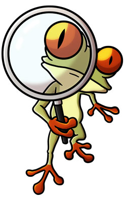 245x390   Tree Frog with Magnify Glass